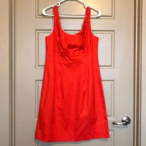 J. Crew Suiting Dress, 10. Bright Coral.